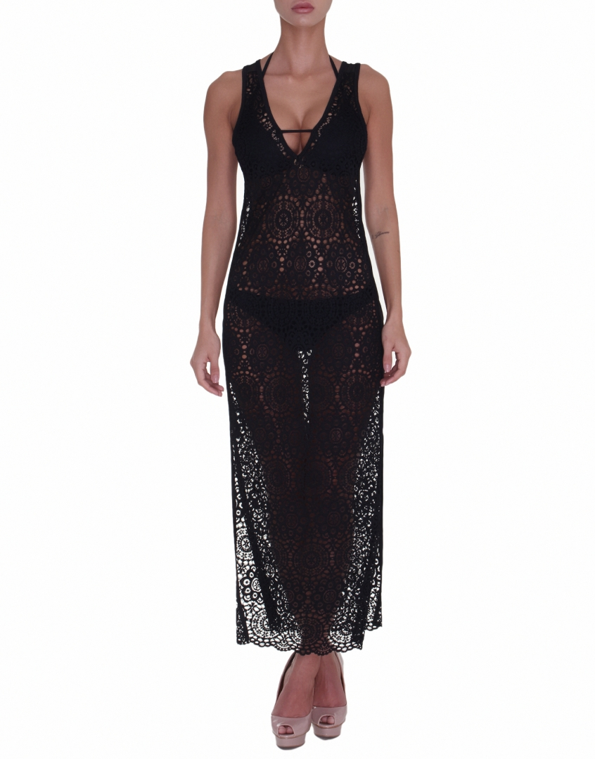 Vivien Vance - Black lace beach dress fe032d49a9