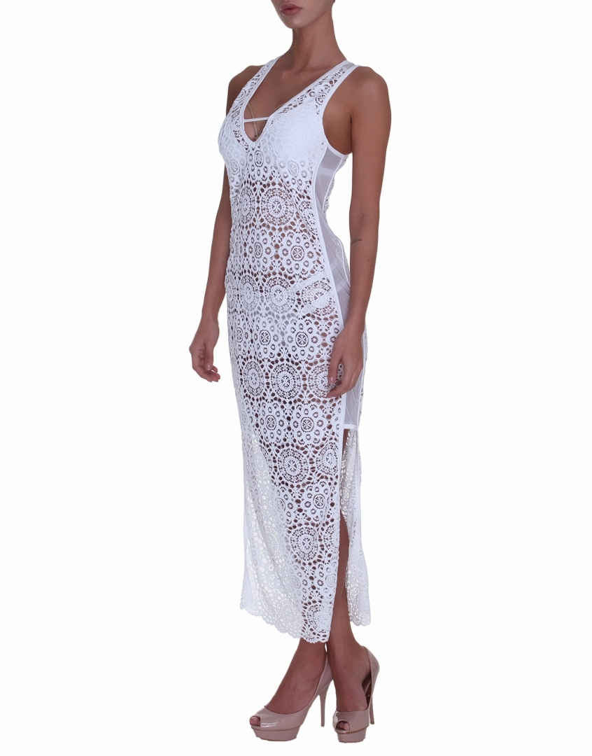 Vivien Vance - White lace beach dress 2266d5ed87